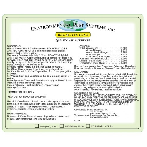 Environmental Pest Systems Bio-Active 10-8-8
