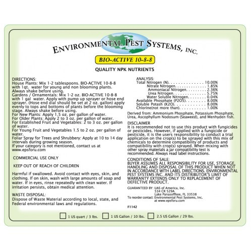 Environmental Pest Systems Bio-Active 10-8-8