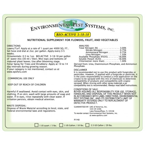 Environmental Pest Systems Bio-Active 3-18-18