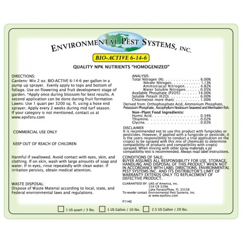 Environmental Pest Systems Bio-Active 6-14-6