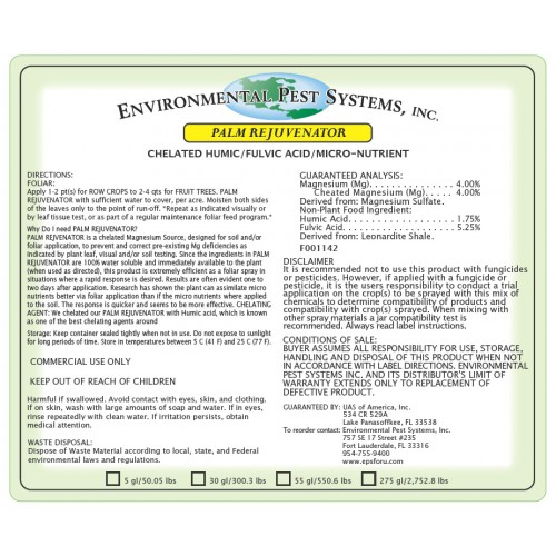 Environmental Pest Systems - Palm Rejuvenator
