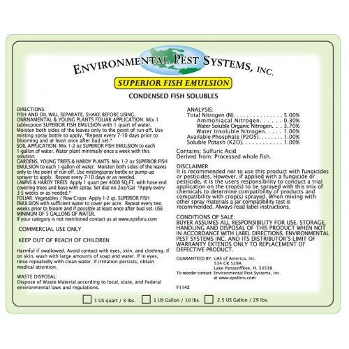 Environmental Pest Systems Superior Fish Emulsion