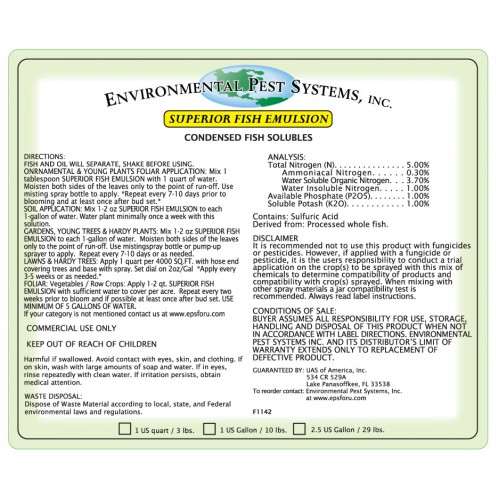 Environmental Pest Systems Superior Fish Emulsion
